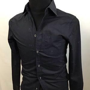 Armani Exchange men button up blue long sleeve XS